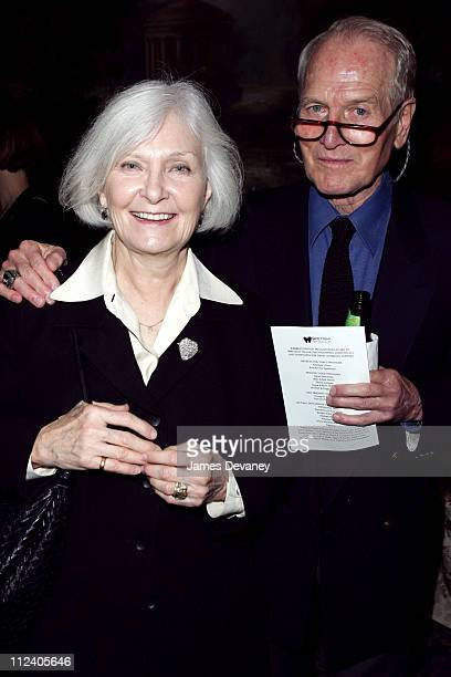 Joanne Woodward and Paul Newman during The Second Annual Barretstown New York City Gala at Essex House in New York City New York United States