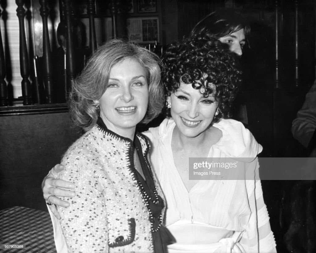 Joanne Woodward and Valentine Cortes photographed in New York City circa 1974.