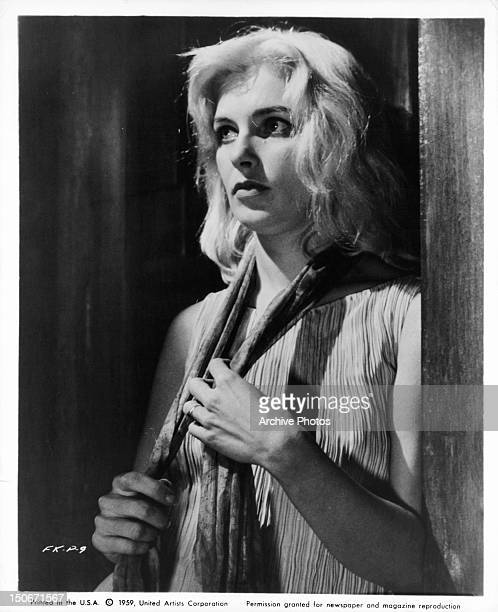 Joanne Woodward standing in the shadows in a scene from the film 'The Fugitive Kind' 1959