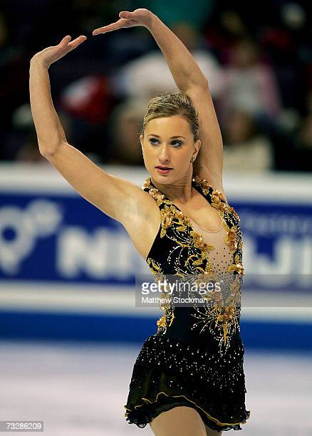 Joannie Rochette of Canada competes in the free skate during the ISU Four Continents Figure Skating Championships February 10 2007 in Colorado...