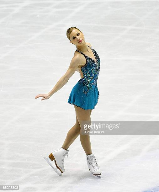 Joannie Rochette of Canada competes in the Ladies Free Skating during the ISU World Team Trophy 2009 Day 3 at Yoyogi National Gymnasium on April 18...