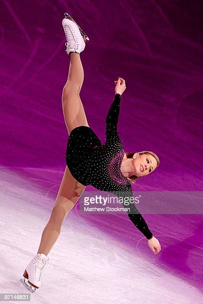Joannie Rochette of Canada performs at the Exhibition Gala following the Olympic figure skating competition at Pacific Coliseum on February 27 2010...