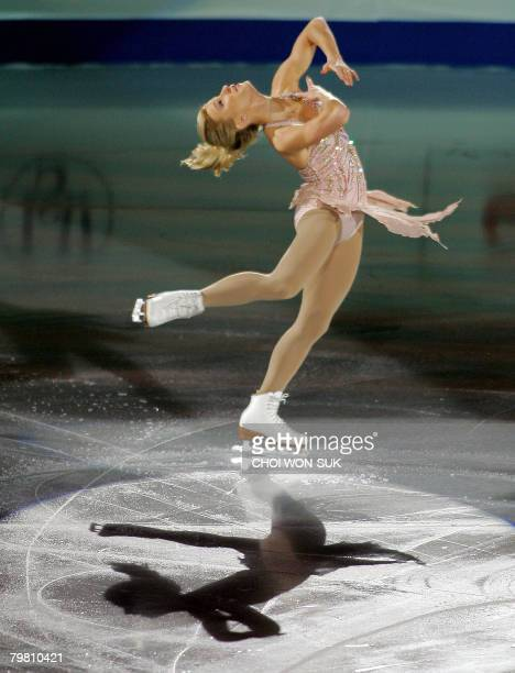 Joannie Rochette of Canada performs during an exhibition program at the ISU Four Continents Figure Skating Championships in Goyang 20 Kms northwest...