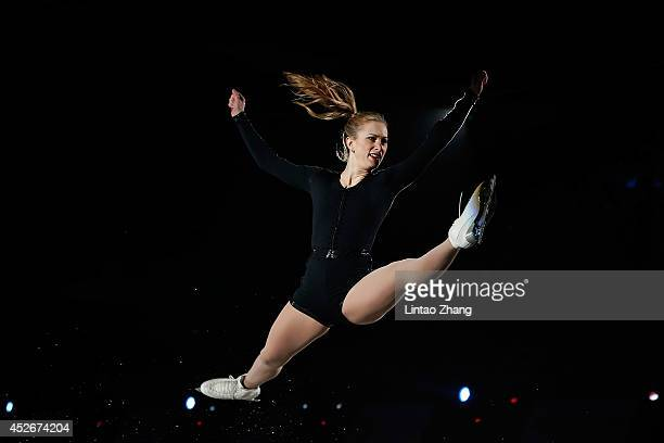 Joannie Rochette of Canada performs during the 2014 Artistry On Ice Beijing at Beijing MasterCard Center on July 25 2014 in Beijing China
