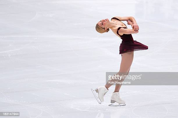 Joannie Rochette of Canada performs during the Japan Open 2013 Figure Skating at Saitama Super Arena on October 5, 2013 in Saitama, Japan.