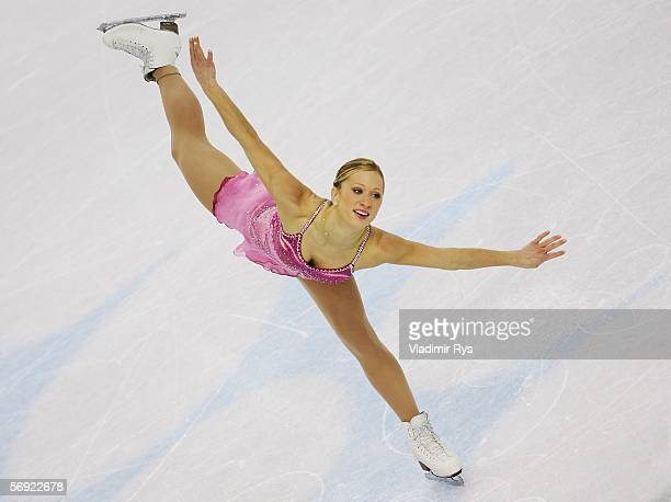 Joannie Rochette of Canada performs during the women's Free Skating program of figure skating during Day 13 of the Turin 2006 Winter Olympic Games on...