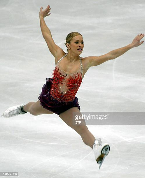 Joannie Rochette of Canada performs in the free skating event at the ISU Grand Prix final in Beijing 18 December 2004 Rochette finished in third...
