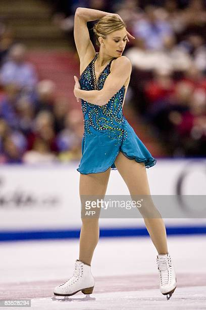Joannie Rochette of Canada skates to victory at the HomeSense Skate Canada International at Scotiabank Place in Ottawa Ontario November 1 2008 AFP...