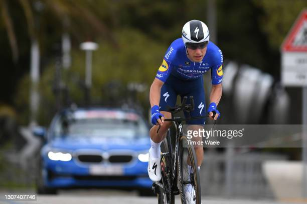 Joao Almeida of Portugal and Team Deceuninck - Quick-Step during the 56th Tirreno-Adriatico 2021, Stage 7 a 10,1km Individual Time Trial stage from...