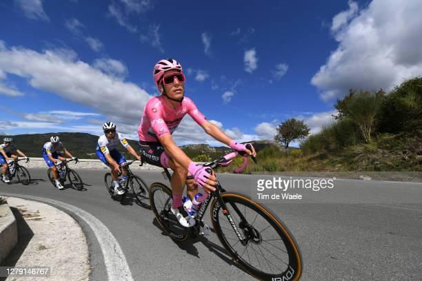Joao Almeida of Portugal and Team Deceuninck - Quick-Step Pink Leader Jersey / Alvaro Jose Hodeg Chagui of Colombia and Team Deceuninck - Quick-Step...