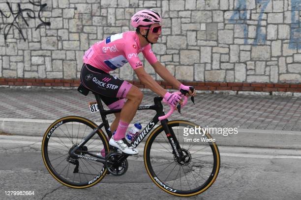 Joao Almeida of Portugal and Team Deceuninck - Quick-Step Pink Leader Jersey / during the 103rd Giro d'Italia 2020, Stage 10 a 177km stage from...