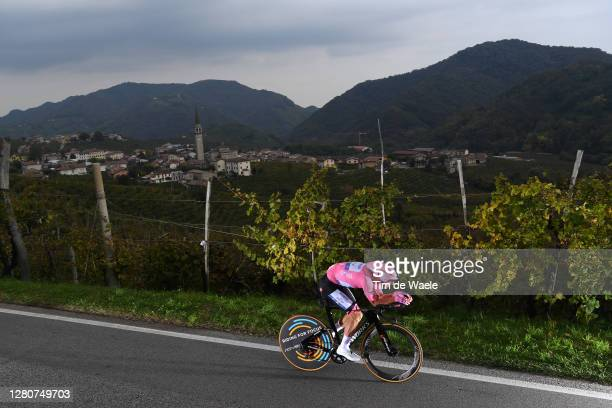 Joao Almeida of Portugal and Team Deceuninck - Quick-Step Pink Leader Jersey / Santo Stefano Village / Vineyards / Landscape / during the 103rd Giro...