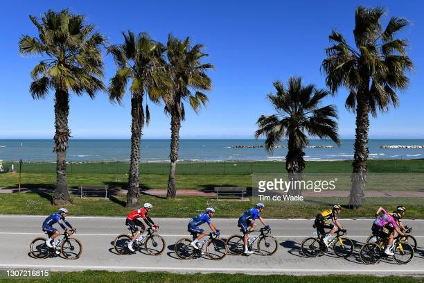 Joao Almeida of Portugal, Kasper Asgreen of Denmark, Davide Ballerini of Italy, Bert Van Lerberghe of Belgium and Team Deceuninck - Quick-Step, Timo...