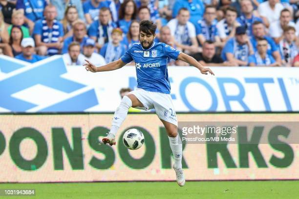Joao Amaral of Lech Poznan in action during Lotto Ekstraklasa match between Lech Poznan and Wisla Krakow on August 19 2018 in Poznan Poland