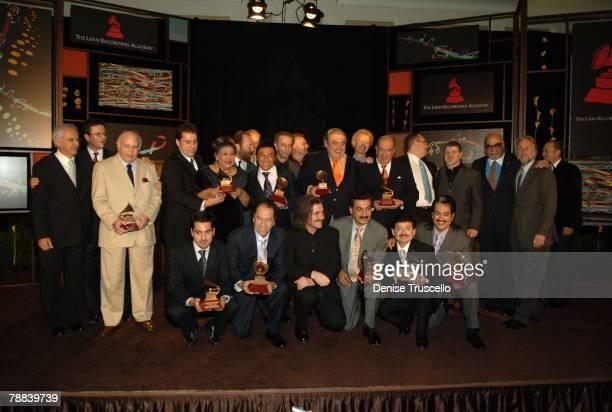 Joao Araujo, Olga Guillot, Los Tigres del Norte, Os Paralamas do Sucesso, Lucho Gatica, President of the Latin Recording Academy Gabriel Abaroa and...