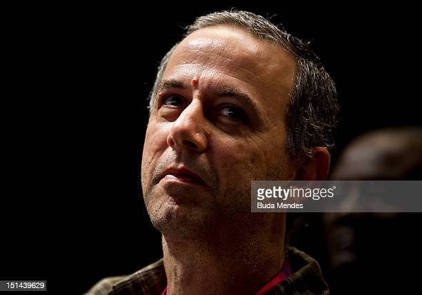 Joao Barone, drummer for Paralamas do Sucesso during Rio 2016 Press Conference on day 9 of the London 2012 Paralympic Games on September 07, 2012 in...