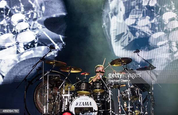 Joao Barone from Os Paralamas do Sucesso performs at 2015 Rock in Rio on September 20 2015 in Rio de Janeiro Brazil