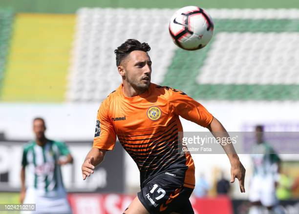Joao Camacho of CD Nacional in action during the Liga NOS match between Vitoria FC and CD Nacional at Estadio do Bonfim on August 26 2018 in Setubal...
