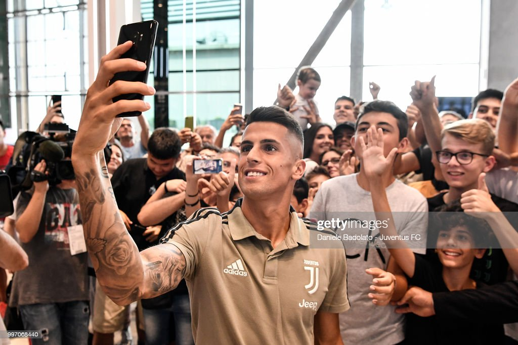 Joao Cancelo during a Juventus Press Conference at Juventus Store on July 12, 2018 in Turin, Italy.