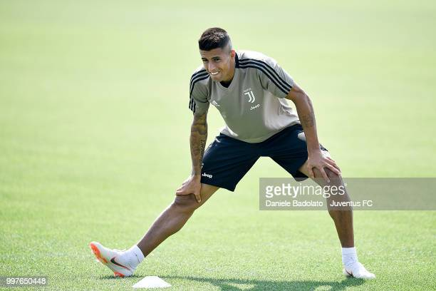 Joao Cancelo during a Juventus training session at Juventus Training Center on July 13 2018 in Turin Italy
