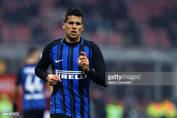 Joao Cancelo of FC Internazionale during the Tim Cup football match between Ac Milan and Fc Internazionale Ac Milan wins 10 over Fc Internazionale