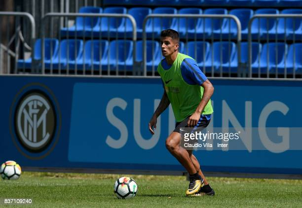 Joao Cancelo of FC Internazionale in action during a training session at Suning Training Center at Appiano Gentile on August 22 2017 in Como Italy