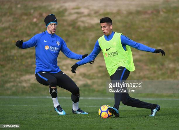 Joao Cancelo of FC Internazionale in action during the FC Internazionale training session at Suning Training Center at Appiano Gentile on December 1...
