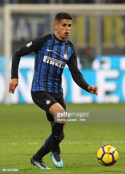 Joao Cancelo of FC Internazionale in action during the serie A match between FC Internazionale and SS Lazio at Stadio Giuseppe Meazza on December 30...