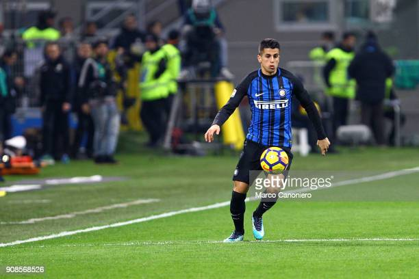 Joao Cancelo of FC Internazionale in action during the Serie A match between FC Internazionale and As Roma The match ended in a 11 tie