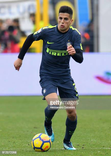 Joao Cancelo of FC Internazionale in action during the serie A match between Spal and FC Internazionale at Stadio Paolo Mazza on January 28 2018 in...