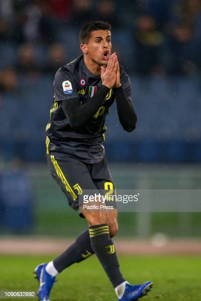 Joao Cancelo of Juventus during the Serie A match between SS Lazio and Juventus at Stadio Olimpico in Rome Italy Juventus won the match 21