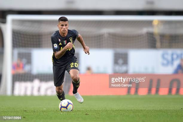 Joao Cancelo of Juventus FC in action during the Serie A football match between AC ChievoVerona and Juventus FC Juventus FC won 32 over AC...