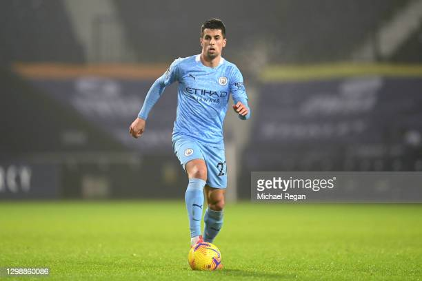 Joao Cancelo of Manchester City in action during the Premier League match between West Bromwich Albion and Manchester City at The Hawthorns on...