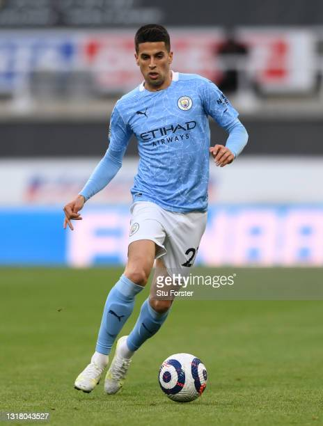 Joao Cancelo of Manchester City in action during the Premier League match between Newcastle United and Manchester City at St. James Park on May 14,...
