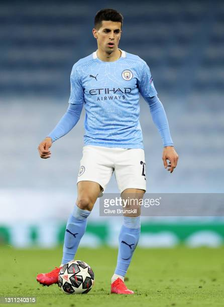 Joao Cancelo of Manchester City on the ball during the UEFA Champions League Quarter Final match between Manchester City and Borussia Dortmund at...