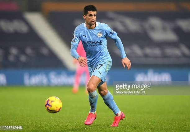 Joao Cancelo of Manchester City runs with the ball during the Premier League match between West Bromwich Albion and Manchester City at The Hawthorns...