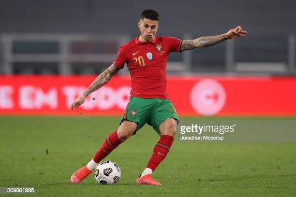 Joao Cancelo of Portugal during the FIFA World Cup 2022 Qatar qualifying match between Portugal and Azerbaijan at Allianz Stadium on March 24, 2021...