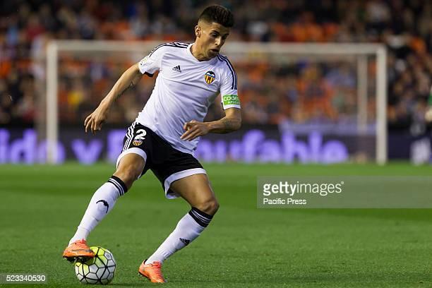 Joao Cancelo of Valencia CF during La Liga match between Valencia CF and SD Eibar at Mestalla Stadium where Valencia beats SD Eibar in 40 score