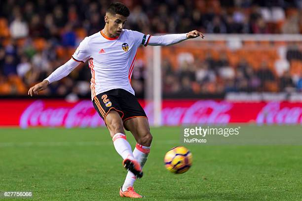 02 Joao Cancelo of Valencia CF during the Spanish La Liga Santander soccer match between Valencia CF vs Malaga CF at Mestalla Stadium on December 4...
