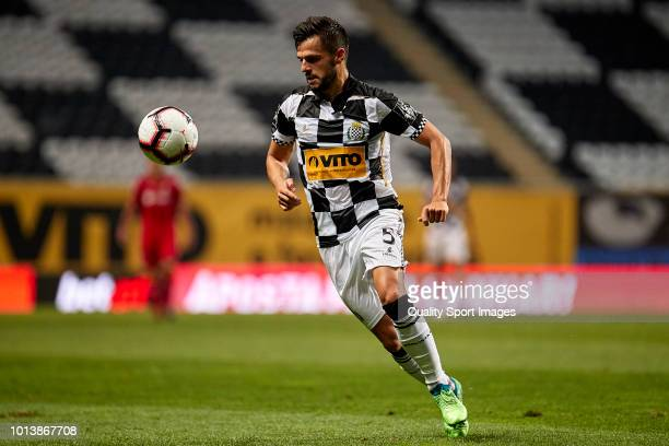 Joao Carlos Araujo 'Talocha' in action during the Preseason friendly match between Boavista FC and Getafe CF at Estadio do Bessa XXI on August 3 2018...