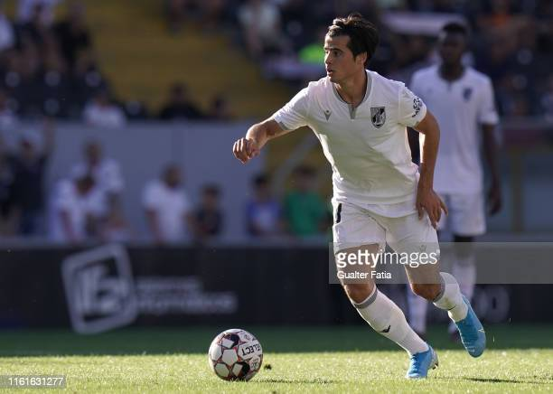 Joao Carlos Teixeira of Vitoria SC in action during the UEFA Europa League Third Qualifying Round match between Vitoria SC and FK Ventspils at...