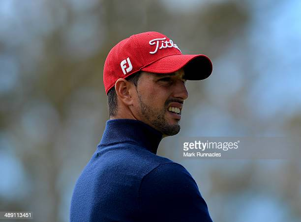 Joao Carlota of Portugal watches on from the 7th tee during the Madeira Islands Open - Portugal - BPI at Club de Golf do Santo da Serra on May 10,...