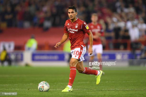 Joao Carvalho of Nottingham Forest during the Carabao Cup 2nd round match between Nottingham Forest and Derby County at the City Ground, Nottingham...