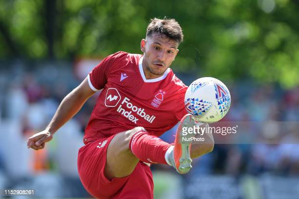 Joao Carvalho of Nottingham Forest during the Pre-season Friendly match between Alfreton Town and Nottingham Forest at North Street, Alfreton on...