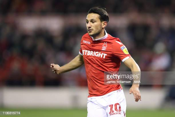 Joao Carvalho of Nottingham Forest during the Sky Bet Championship match between Nottingham Forest and Aston Villa at City Ground on March 13, 2019...