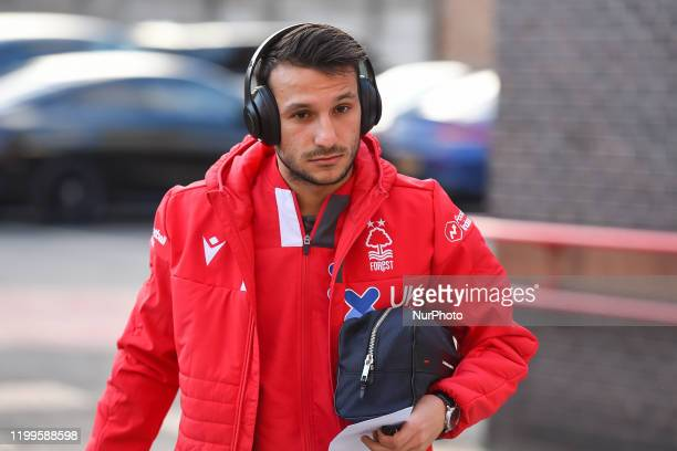 Joao Carvalho of Nottingham Forest during the Sky Bet Championship match between Nottingham Forest and Leeds United at the City Ground, Nottingham on...