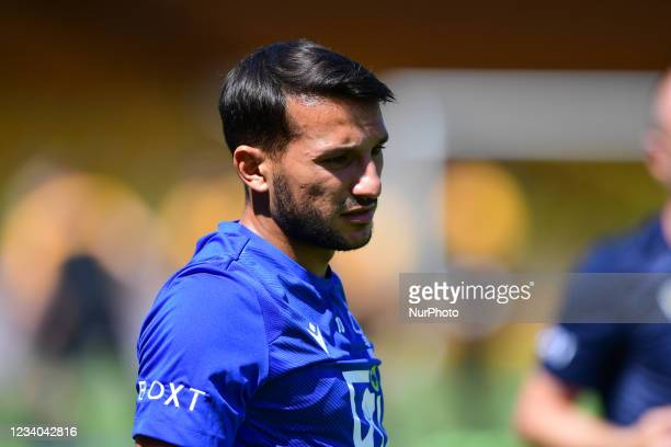 Joao Carvalho of Nottingham Forest warms up ahead of kick-off during the Pre-season Friendly match between Port Vale and Nottingham Forest at Vale...