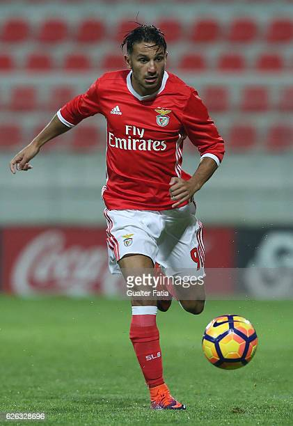 Joao Carvalho of SL Benfica B in action during the Segunda Liga match between SL Benfica B and AD Fafe at Caixa Futebol Campus on November 28 2016 in...