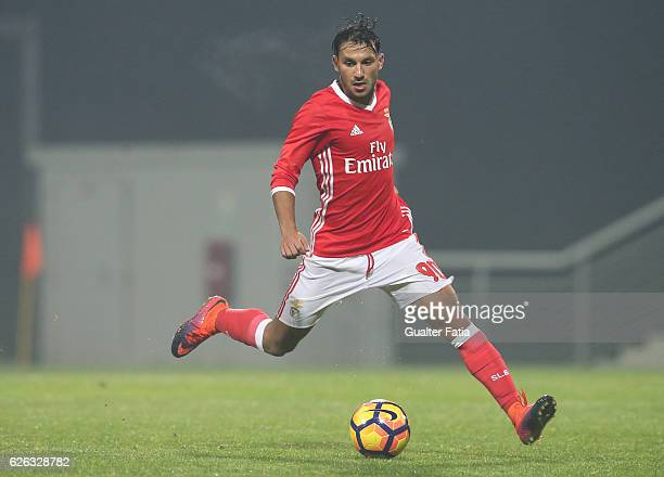 Joao Carvalho of SL Benfica B in action during the Segunda Liga match between SL Benfica B and AD Fafe at Caixa Futebol Campus on November 28, 2016...