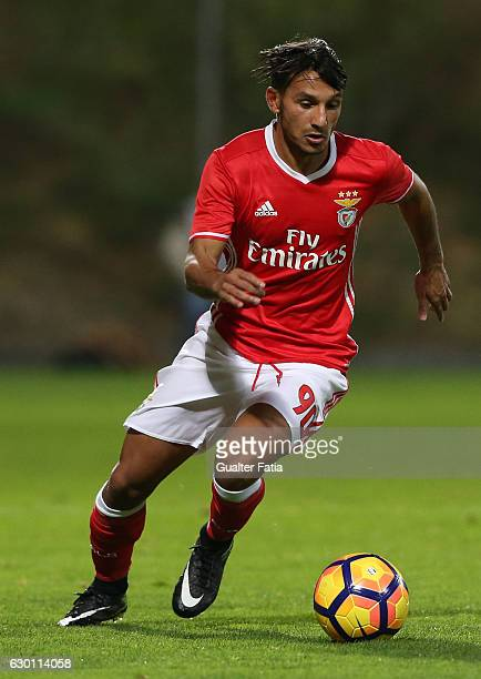 Joao Carvalho of SL Benfica B in action during the Segunda Liga match between SL Benfica B and Sporting CP B at Caixa Futebol Campus on December 16...
